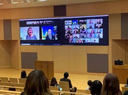 アメリカ分校オンライン留学修了式が学院HPに取り上げられました
