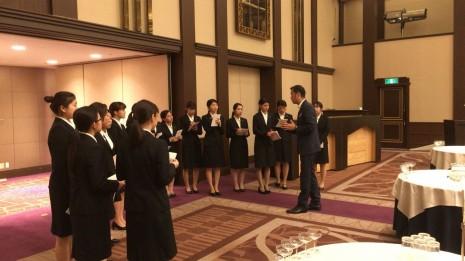 ホテル阪急インターナショナルにて企業研修が行われました