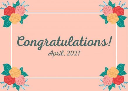 2021年度ご入学のみなさまへ学科長からお祝いのメッセージが届いています